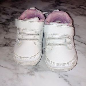 Stride Rite White Leather Walking Shoes